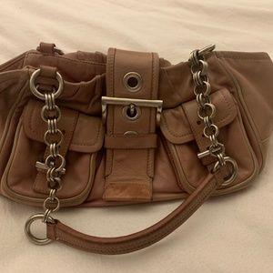Pink Leather Prada Shoulder Bag